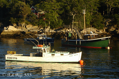 Lobster Boats - New Harbor, ME ... September 1, 2007 ... Photo by Rob Page III