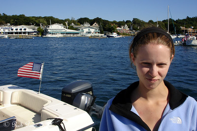 Emily making a mean face - Boothbay, ME ... September 2, 2007 ... Photo by Rob Page III