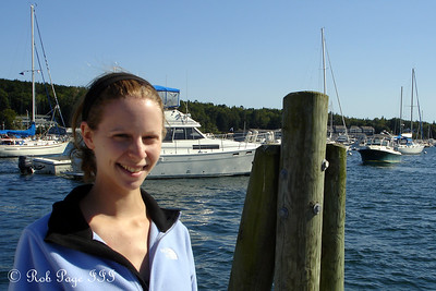 Emily enjoying the sun - Boothbay, ME ... September 2, 2007 ... Photo by Rob Page III