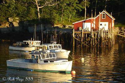 Sunset comes to the harbor - New Harbor, ME ... September 1, 2007 ... Photo by Rob Page III