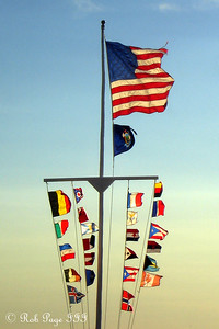 Flags - Pemaquid, ME ... September 2, 2007 ... Photo by Rob Page III