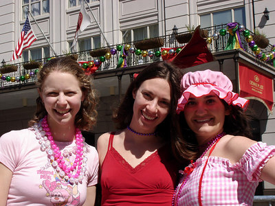 Emily, Steph, and Liora enjoying Mardi Gras - New Orleans, LA ... February 26, 2006 ... Photo by Rob Page III
