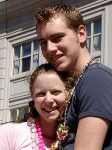Rob and Emily enjoying Mardi Gras - New Orleans, LA ... February 26, 2006 ... Photo by Stephanie Green
