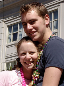 Rob and Emily enjoying Mardi Gras - New Orleans, LA ... February 26, 2006 ... Photo by Stephanie Green