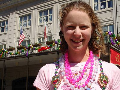 Emily on Canal Street - New Orleans, LA ... February 26, 2006 ... Photo by Rob Page III