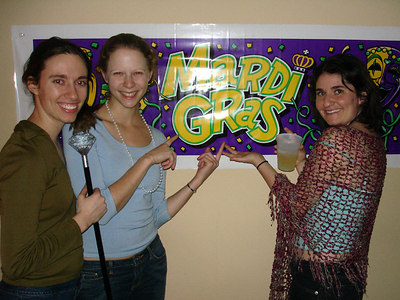 Stephanie, Emily, and Liora celebrating Mardi Gras - Baton Rouge, LA ... February 24, 2006 ... Photo by Rob Page III