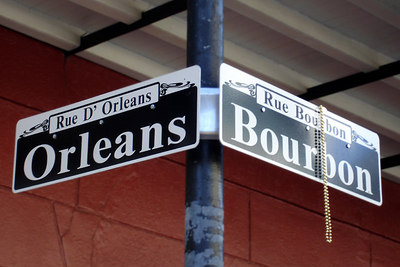 Rue D' Orleans et Rue Bourbon - New Orleans, LA ... February 27, 2006 ... Photo by Rob Page III