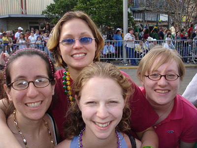 Mardi Gras in the country! Laura, Emily, LB, and Zoey - Eunice, LA ... February 28, 2006 ... Photo by Rob Page III