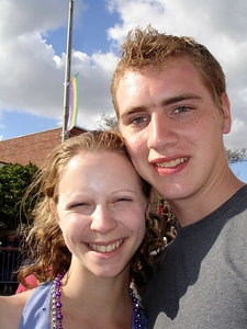 Emily and Rob. Mardi Gras in the country! - Eunice, LA ... February 28, 2006