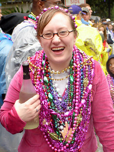 Zoey at the Spanish Town Mardi Gras Parade - Baton Rouge, LA ... February 25, 2006 ... Photo by Rob Page III