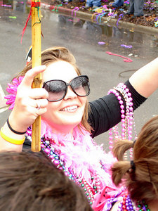 Chloe at the Spanish Town Mardi Gras Parade - Baton Rouge, LA ... February 25, 2006 ... Photo by Rob Page III