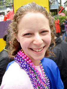 Emily at the Spanish Town Mardi Gras Parade - Baton Rouge, LA ... February 25, 2006 ... Photo by Rob Page III