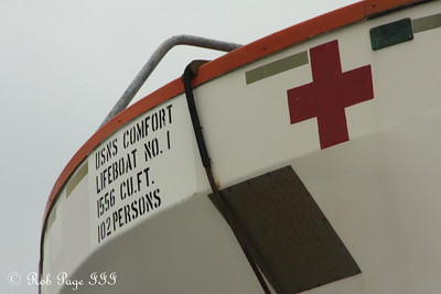 One of the lifeboats on the USNS Comfort - Baltimore, MD ... August 6, 2009 ... Photo by Rob Page III