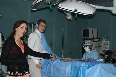 Rob and Cady performing surgery on the USNS Comfort - Baltimore, MD ... August 6, 2009 ... Photo by Karin Drinkhall