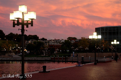 Sunset - Baltimore, MD ... October 12, 2009 ... Photo by Rob Page III
