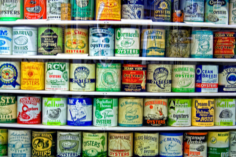 Oyster cans.