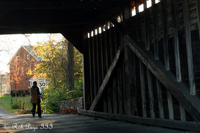 Looking through the Roddy Road Covered Bridge - Frederick, MD ... November 7, 2009 ... Photo by Emily Page