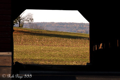 Looking through the Utice covered bridge - Frederick, MD ... November 7, 2009 ... Photo by Rob Page III