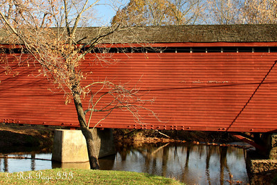 Loy's Station Road Covered Bridge - Frederick, MD ... November 7, 2009 ... Photo by Rob Page III
