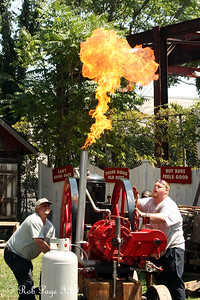Igniting the engine at the Montgomery County Fair - Gaithersburg, MD ... August 16, 2009 ... Photo by Rob Page III