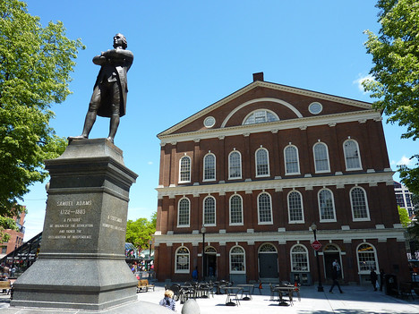 Samuel Adams in front of Faneuil Hall, Boston - USA