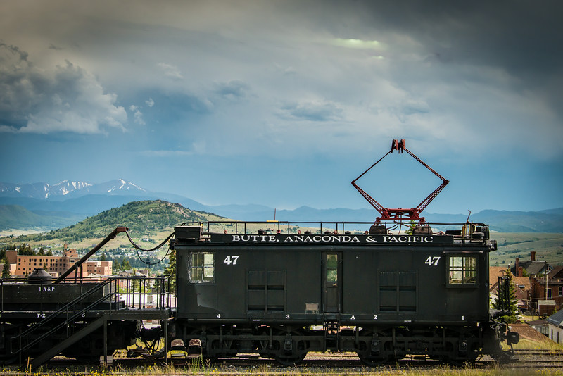 Electric Railroad Car for Butte to Anaconda route