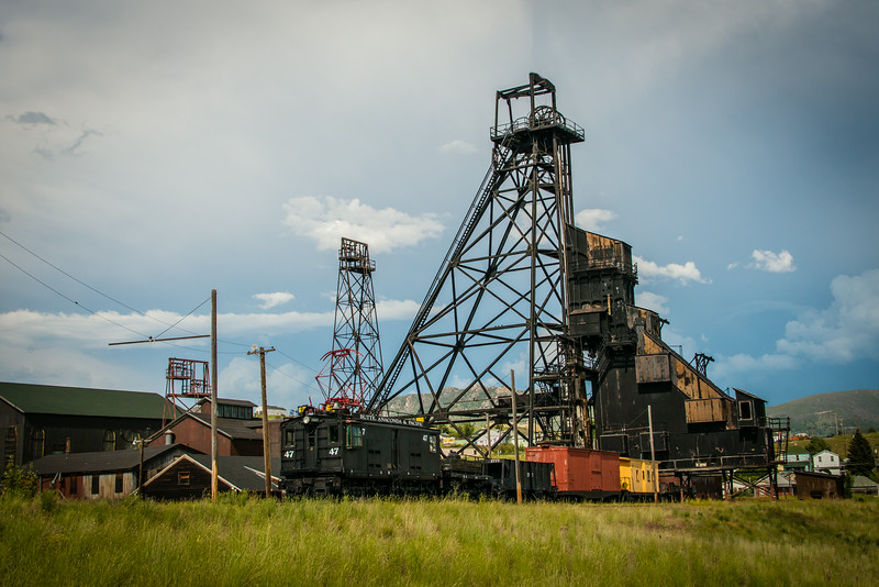 Headframe for Anselo Mine, cica 1887