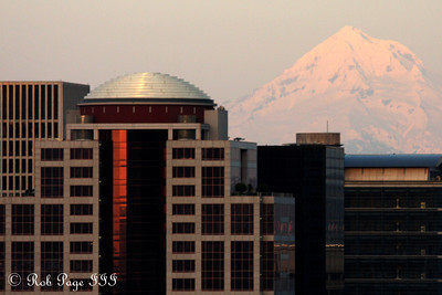 The sun sets on Mt. Hood - Portland, OR ... May 6, 2012 ... Photo by Rob Page III