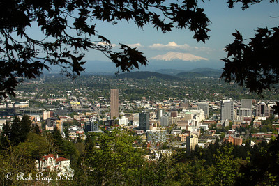 Mt. Hood rises above the city - Portland, OR ... May 6, 2012 ... Photo by Rob Page III