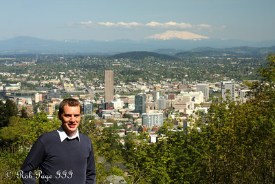 Rob and Portland with Mt. Hood in the background - Portland, OR ... May 6, 2012