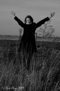 Emily enjoys the prairie - Denton, NE ... November 27, 2010 ... Photo by Rob Page III