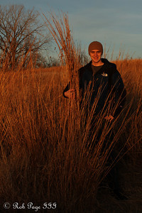 Rob on the prairie - Denton, NE ... November 27, 2010 ... Photo by Emily Page