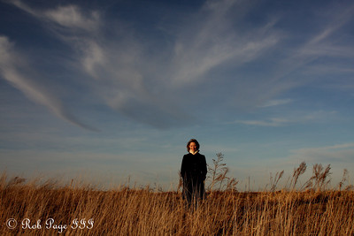 Emily on the prairie - Denton, NE ... November 27, 2010 ... Photo by Rob Page III