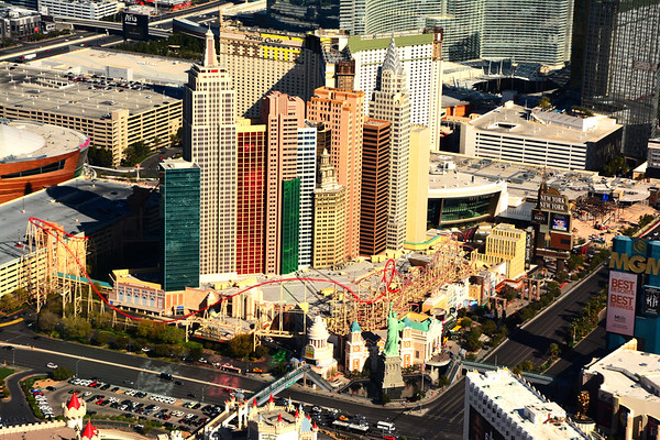 Colorful NY NY from air