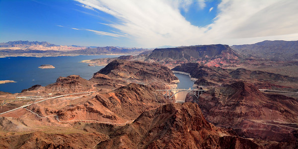 Hoover Dam from the Air and Lake Mead