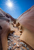 Valley of Fire, Pink Canyon - Curve with pink and yellow rocks
