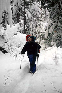 Bob Frye on the trail - Randolph, NH ... February 11, 2005 ... Photo by Rob Page III