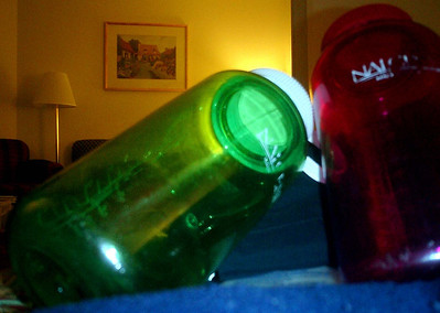 Our waterbottles - Manchester, New Hampshire ... February 11, 2005 ... Photo by Rob Page III