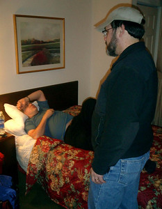 Bob Page is exhausted and this is before we went hiking - Manchester, New Hampshire ... February 11, 2005 ... Photo by Rob Page III