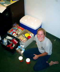 Heather's devious smile (she wanted all the food for herself) - Manchester, NH ... February 11, 2005 ... Photo by Rob Page III