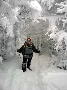 Pedro slogging his way up - NH ... February 12, 2005 ... Photo by Rob Page III