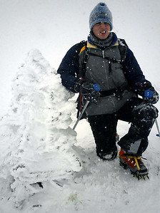 It doesn't look like Pedro is enjoying the snow - NH ... February 12, 2005 ... Photo by Rob Page III