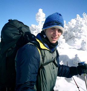 Pedro modelling in the snow - NH ... February 13, 2005 ... Photo by Rob Page III