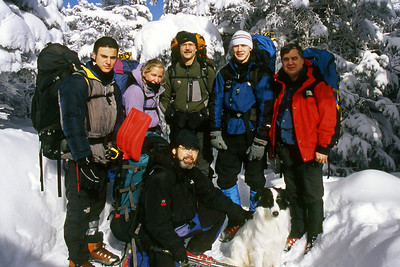 The climbers in the 2005 expedition - NH ... February 13, 2005 ... Photo by Rob Page III