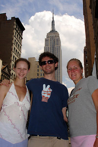 Emily, Dermot, and Heather - New York, NY ... July 9, 2006 ... Photo by Rob Page III