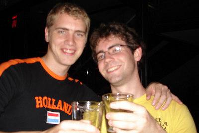 Rob and Dermot having drinks at Tonic - New York, NY ... July 8, 2006 ... Photo by Emily Conger