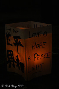 A Japanese lantern to float down the Hudson for 9/11 victims - New York, NY ... September 11, 2011 ... Photo by Rob Page III