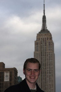 Rob and the Empire State Building - New York, NY ... November 29, 2008 ... Photo by Emily Page