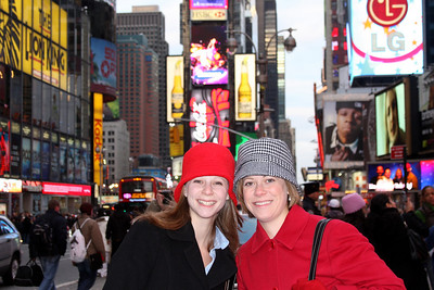 Emily and Jen in Times Square - New York, NY ... November 29, 2008 ... Photo by Rob Page III