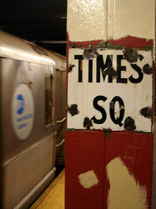 The Times Square subway station - New York, NY ... November 10, 2005 ... Photo by Rob Page III